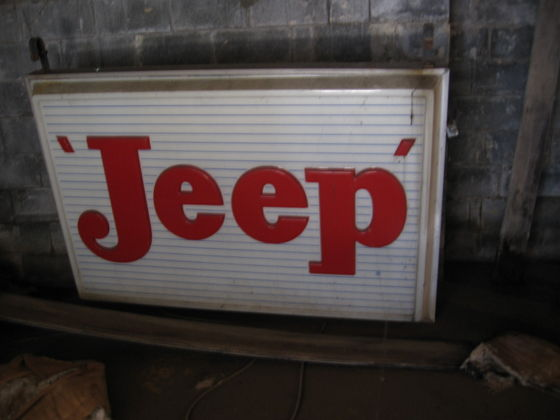Large Jeep Dealership Sign Old Pic The Cj2a Page