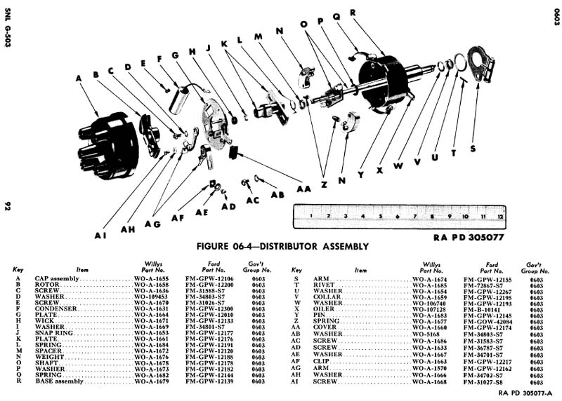 cj2a distributor clamp part the cj2a page forums rh thecj2apage com Ignition Distributor Diagram Distributor Parts Diagram