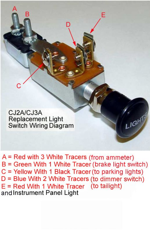Nw Headlight switch question The CJ2A Page Forums