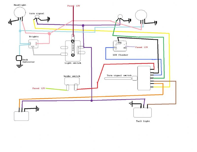 willys turn signal flasher diagram help with led lights the cj2a page forums page 1  help with led lights the cj2a page
