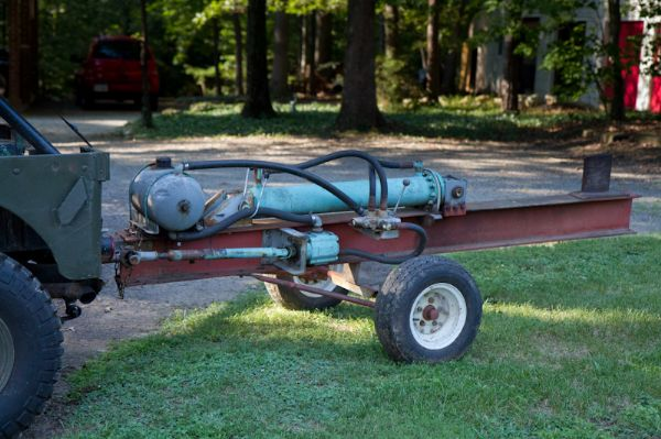 homemade pto driven log splitter the cj2a page forums page 1 - Home Built Log Splitter Plans