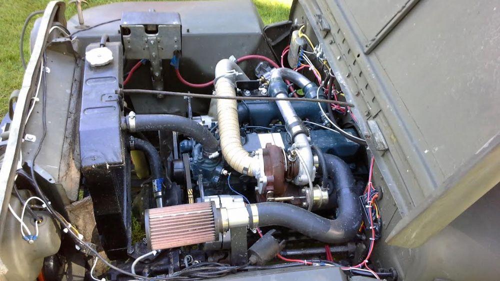 V T M on Jeep M715 Engine Swap