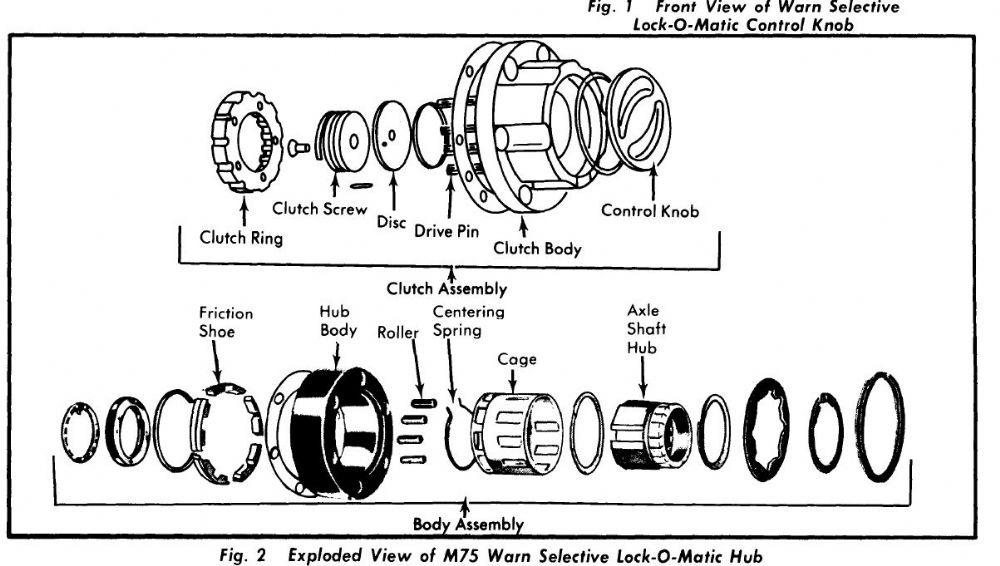 35 Warn Locking Hubs Parts Diagram
