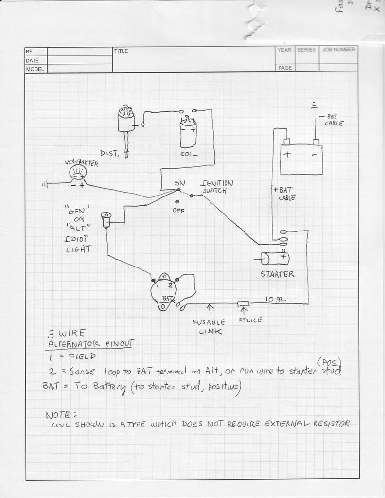 Alternator Wiring Jeep Library 1993 4 0l Diagram