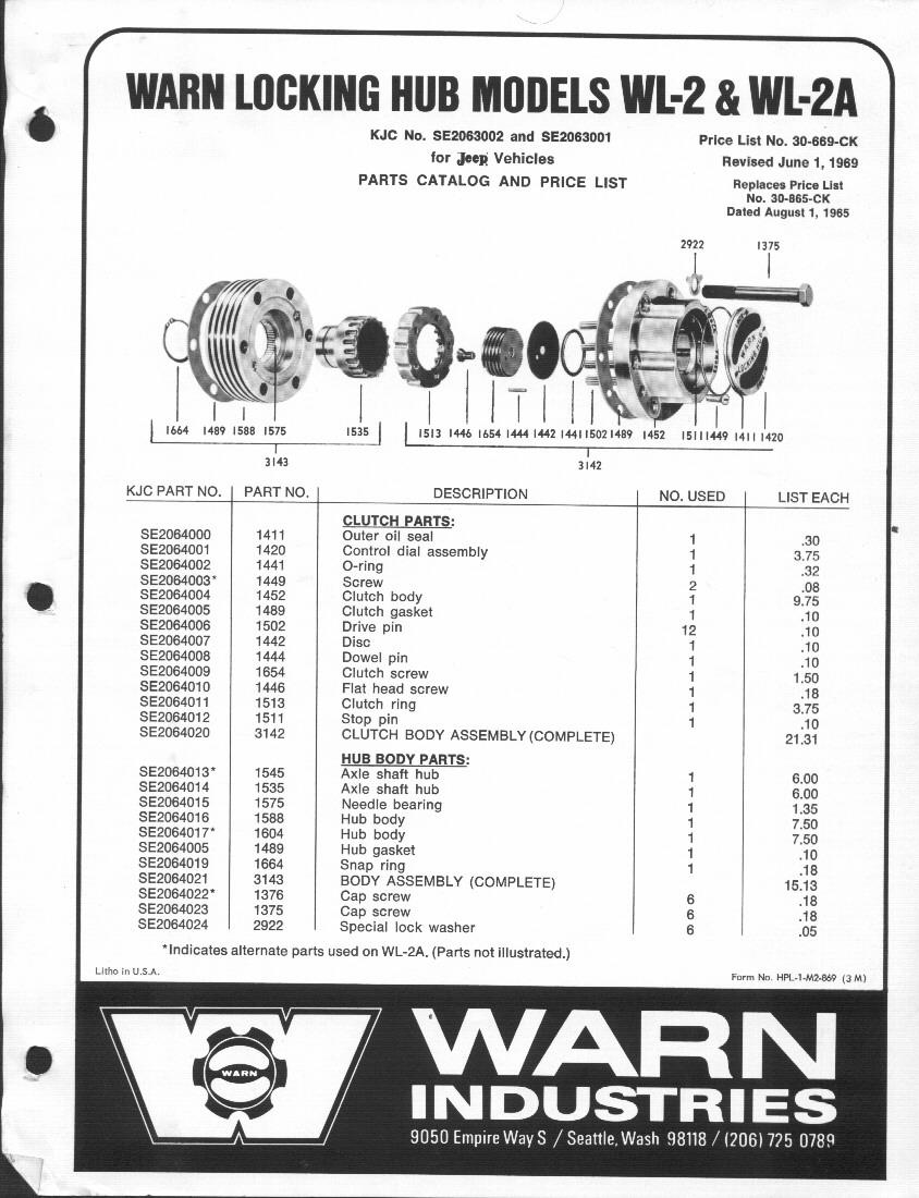 Warn Wl-2 Hub Rebuild