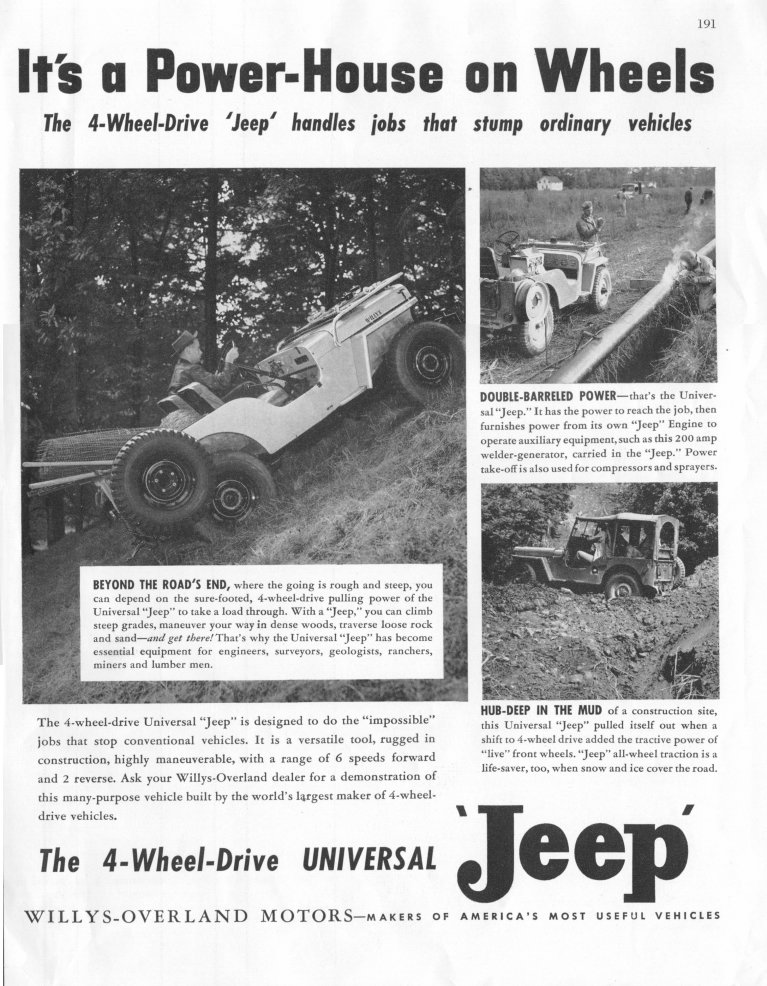 Willys Jeep CJ2A Advertising